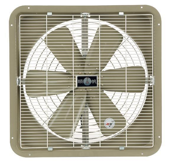 Industrial Type Wall Mounted Exhaust / Drawing Fan - Metal Blades